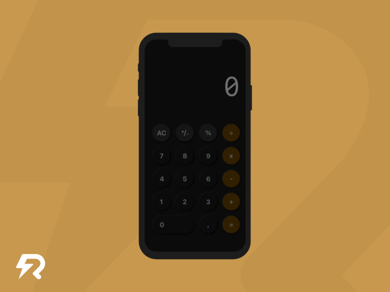 Daily UI, Day 4 • Calculator