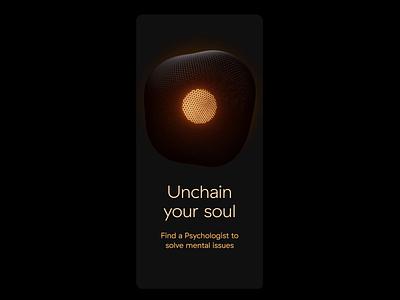 Mental health app desing after effects blender3d medicine mental health love soul gold dark motion therapy psychology mental