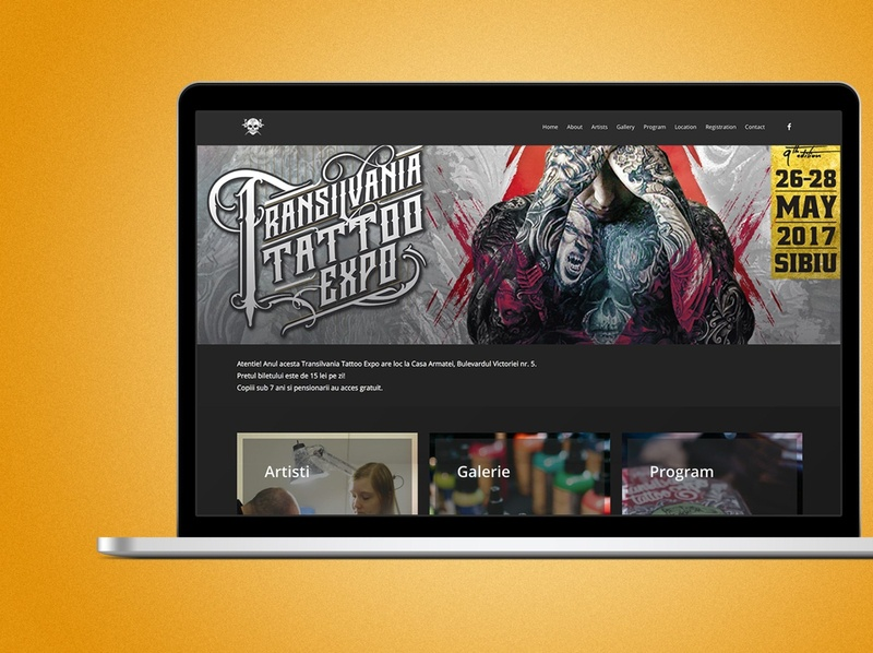 Website Tattoo Expo design uiux website web design