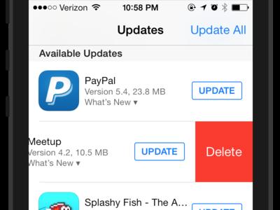 App Store Delete