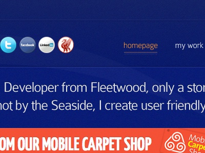 Header of my new freelance website 2