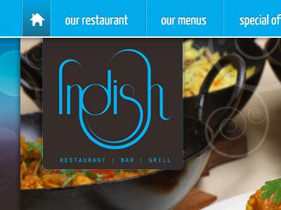 Restaurant Website Top Header