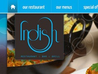 Restaurant Website Top Header