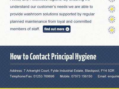 Principal Hygiene Footer