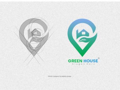 Green House Logo inspiration success power bulb energy abstract illustration solution innovation sign idea symbol business design inspiration concept creative icon vector logo
