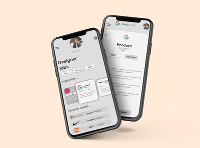 Job app UI