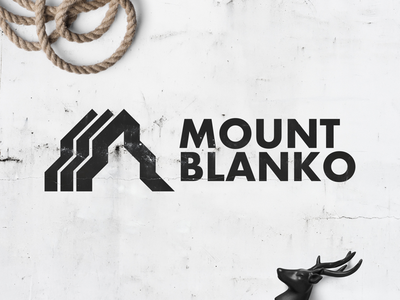 Ski Mountain Logo - Mount Blanko