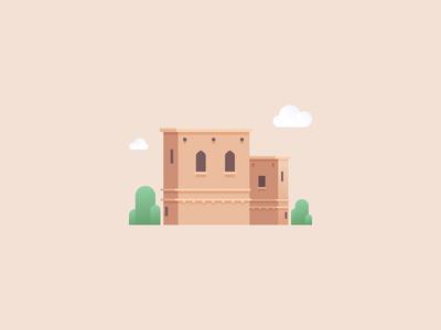 Desert castle placeholder
