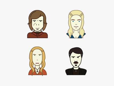 Game Of Thrones Avatars got game of thrones face portrait tv cersei tyrion khaleesi character avatar