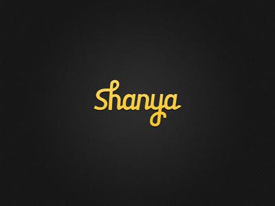 Shanya Logo yellow handwrite letters typography brand nickname name logo