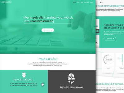 Capitalise Website green investment stocks finance darth vader website money