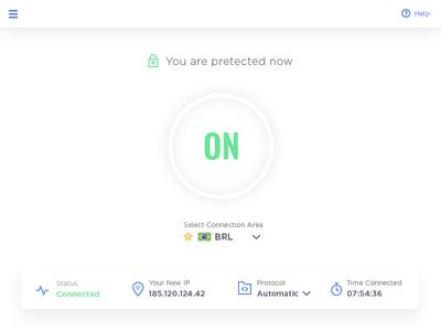 VPN Screen favorite brazil minimalist protection security white button on vpn