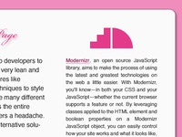 Modernizr sample page