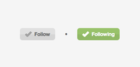 Dribbble Follow button in CSS3
