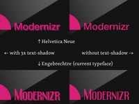 Modernizr Logo Treatments
