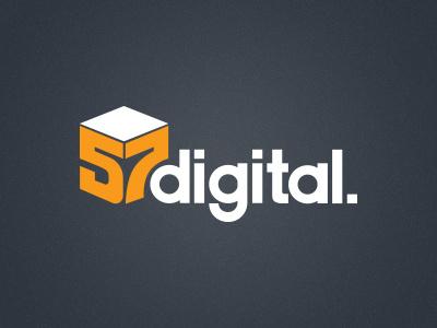 57 Digital Logo redesign logo digital 57 white orange