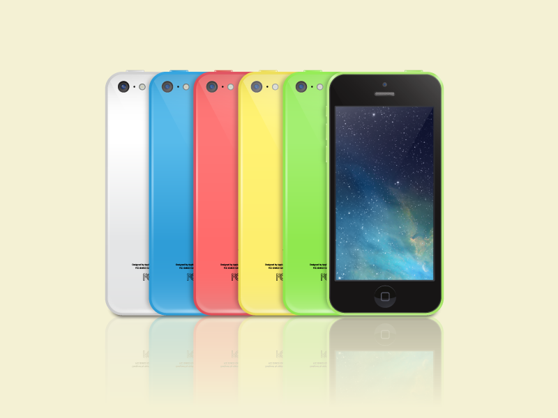 iPhone 5c Vector  iphone 5c vector ai freebies free