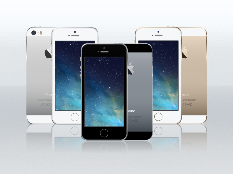 iPhone 5s Vector iphone 5s vector ai freebies free