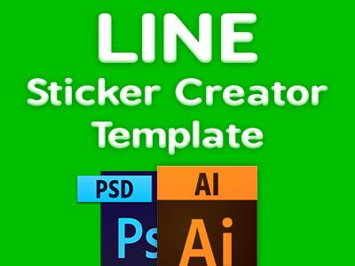 Line creator sticker template by petshopbox dribbble