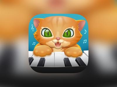 Cat Piano Icon