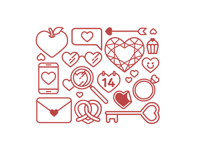 Heart Love Heart outline icon simple good illustration symbol icon pink love heart valentine valentine day