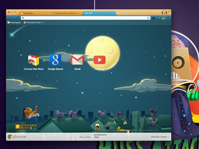 Puss In Box Google Chrome Theme