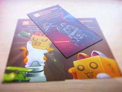 Puss In Box Cards puss business card print name card box orange starwars parody