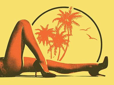 Rod Stewart sexy legs beach heels
