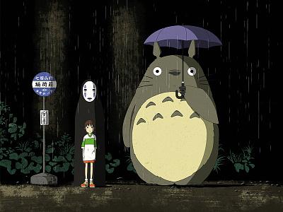 Ghibli Bus Stop spirited away totoro studio ghibli