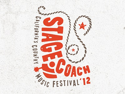 Stagecoach country boot hand lettering type branding