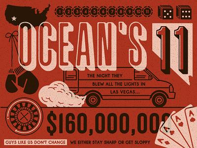 Ocean's Eleven oceans eleven casino las vegas movie poster typography van