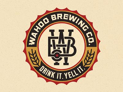 Wahoo Brew. Co. Final beer logo monogram crest