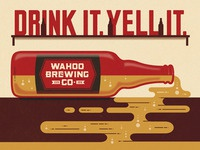 Wahoo Brew. Co. Poster