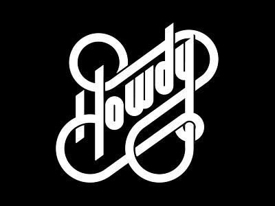 Howdy type retro typography