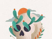 Pavlov skull cactus detail