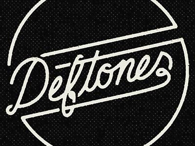 Deftones Circle Emblem deftones script hand type typography