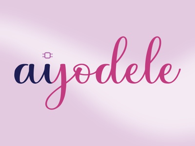 Ayodele + AI ai wordmark flat illustration design logo branding