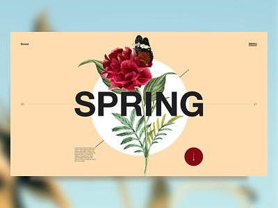 Spring - concept digitaldesign design digital web ui artdirection uidesign landingpage uiux visualdesign