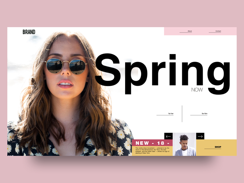 Spring  -V1 concept- design digital web uidesign artdirection e commerce fashion app uiux digitaldesign visualdesign landingpage