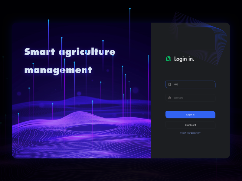 Smart agricultural management typography web branding logo icon ux ui design