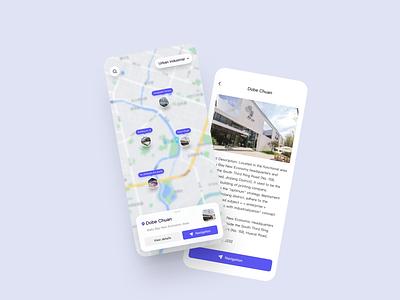 Map App Exploration navigation map mobile design mobile app mobile icon app ux ui design