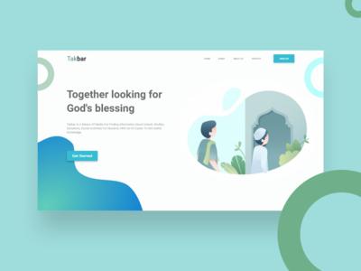 Takbar - Study Landing Page