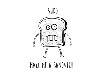 Sudo Sandwich sandwich sudo unix illustration