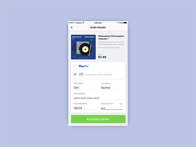 Credit Card - Buying Music ui checkout card credit daily ui