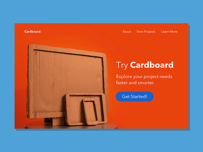 Try Cardboard - Landing Page cardboard ui page landing daily ui