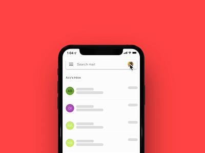 Gmail Avatar Interaction prototype avatar gmail framer framerx design ui