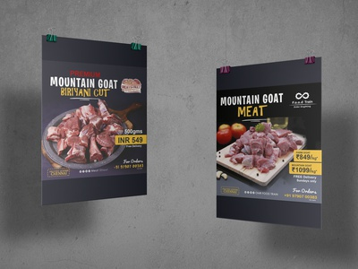 Meat Poster creative ideas ]student icons creative poster meat vector ux illustration logo motion graphics graphic design 3d animation ui designer ai ps lb ai designer branding brand ai designer design