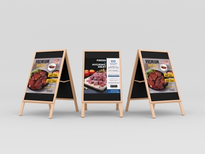 MEAT Standee Poster poster meat meat poster icons standee creative ux illustration vector logo motion graphics graphic design 3d ui animation designer ai ps lb ai designer branding brand ai designer design