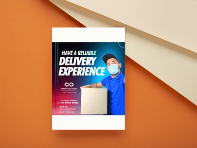 Delivery Poster icons poster voctor vecotr delivery ux illustration vector logo motion graphics graphic design 3d animation ui designer ai ps lb ai designer branding brand ai designer design