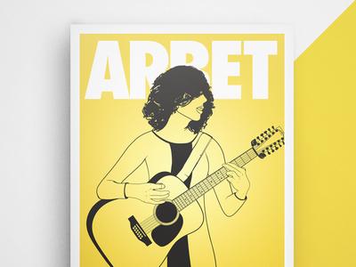 ARBET illustration poster music